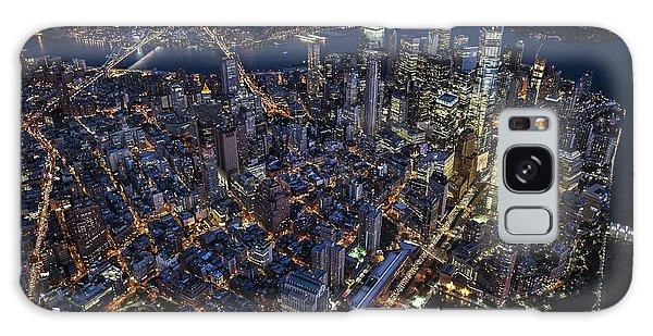 The City That Never Sleeps Galaxy Case by Roman Kurywczak