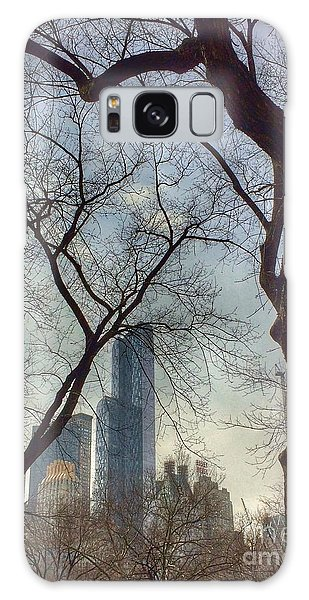The City Through The Trees Galaxy Case