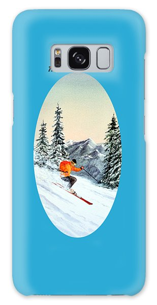 The Clear Leader Skiing Galaxy Case by Bill Holkham