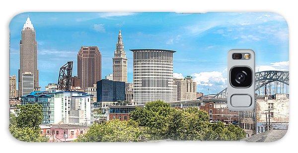The Cleveland Skyline Galaxy Case by Brent Durken
