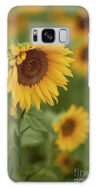 The Close Up Of Sunflowers Galaxy Case