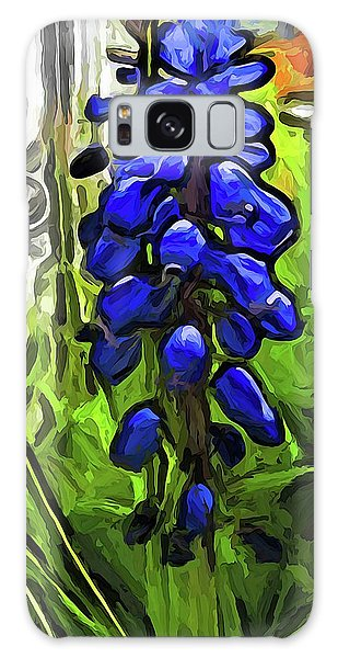 The Cobalt Blue Flowers And The Long Green Grass Galaxy Case