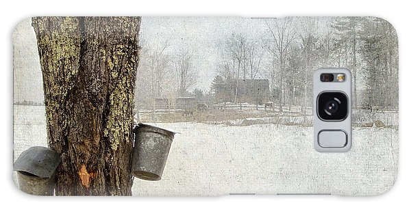 Collecting Sap For Making Maple Syrup Galaxy Case by Betty  Pauwels
