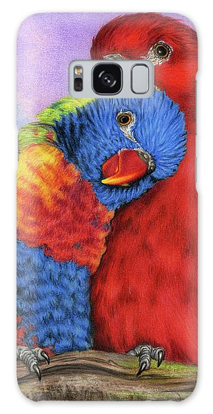 Parakeet Galaxy Case - The Color Of Love by Sarah Batalka