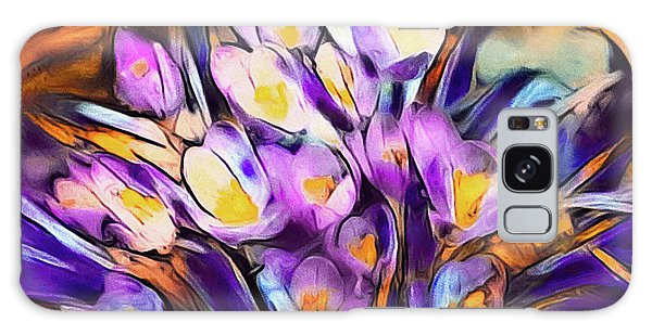 The Colors Of Crocus Galaxy Case