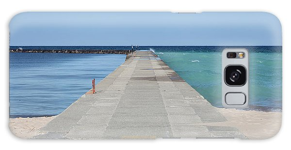 Galaxy Case featuring the photograph The Colors Of Lake Michigan by Fran Riley