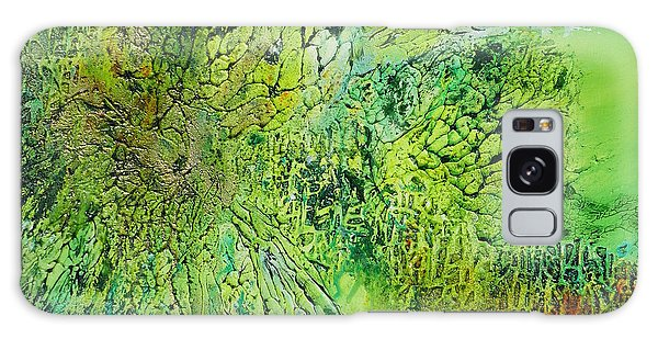Abstract Art - The Colors Of Spring Galaxy Case