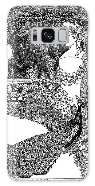 Feather Stars Galaxy Case - The Complaint Of The Peacock Scene From Aesop's Fables by Percy J Billinghurst