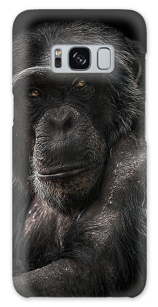 Chimpanzee Galaxy S8 Case - The Contender by Paul Neville