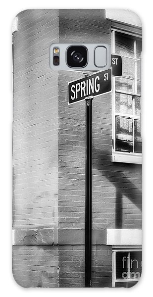 The Corner Of Winter And Spring Bw Galaxy Case