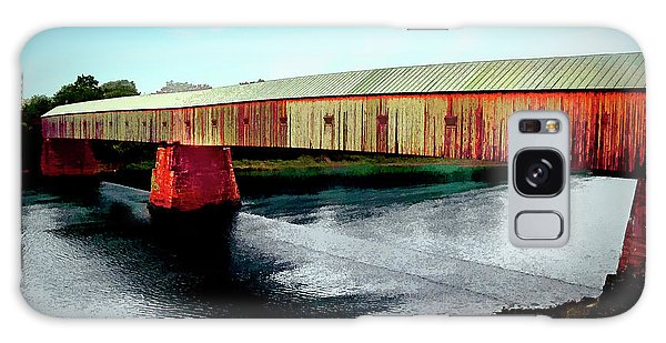 The Cornish-windsor Covered Bridge  Galaxy Case