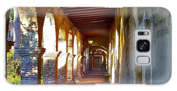 The Corridor By The Serra Chapel San Juan Capistrano Mission California Galaxy Case by Karon Melillo DeVega