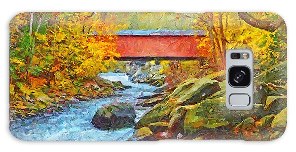 Galaxy Case featuring the digital art The Covered Bridge At Mcconnells Mill State Park by Digital Photographic Arts