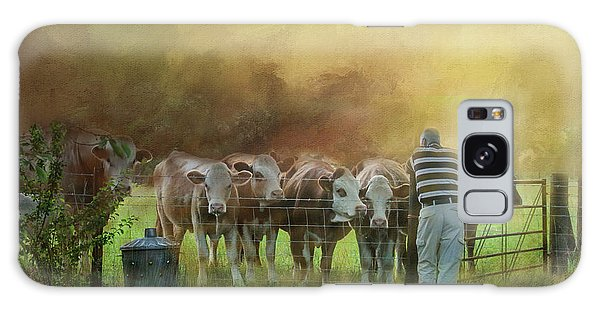 Galaxy Case featuring the photograph The Cow Whisperer by Wallaroo Images