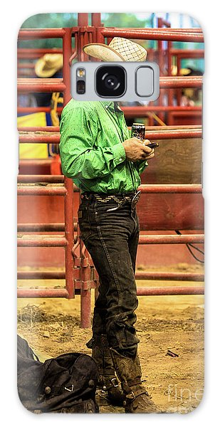 Prca Galaxy Case - The American Cowboy Ready For The Rodeo by Rene Triay Photography
