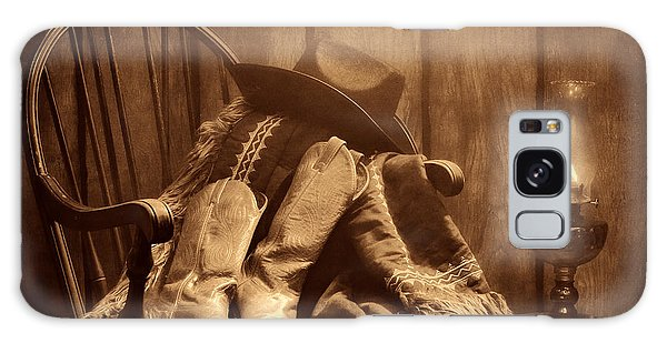 The Cowgirl Rest Galaxy Case by American West Legend By Olivier Le Queinec