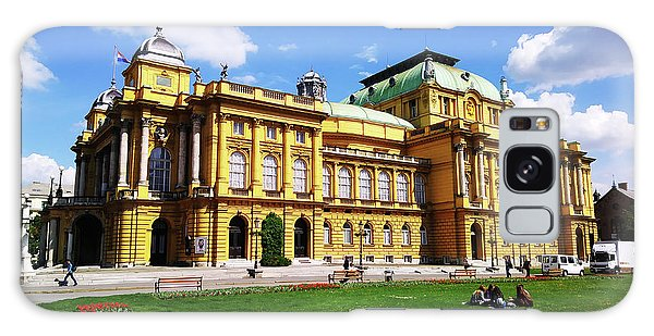 The Croatian National Theater In Zagreb, Croatia Galaxy Case