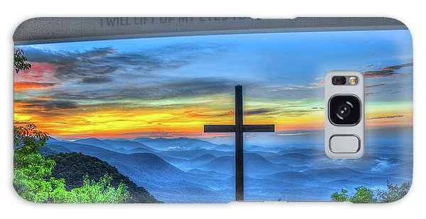 The Cross Sunrise At Pretty Place Chapel Galaxy Case