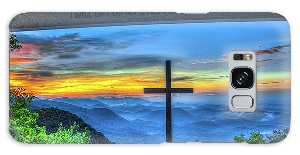 The Cross Sunrise At Pretty Place Chapel Galaxy Case by Reid Callaway