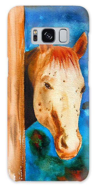 The Curious Appaloosa Galaxy Case by Sharon Mick