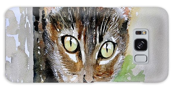 The Curious Tabby Cat Galaxy Case