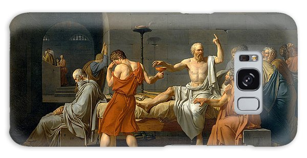 Philosopher Galaxy Case - The Death Of Socrates - Jacques-louis David  by War Is Hell Store