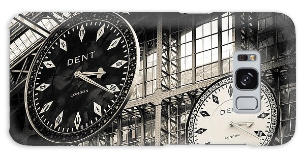 The Dent Clock And Replica At St Pancras Railway Station Galaxy Case