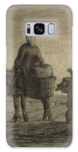The Departure For Work Galaxy Case by Jean-Francois Millet