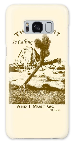 The Desert Is Calling And I Must Go - Brown Galaxy Case
