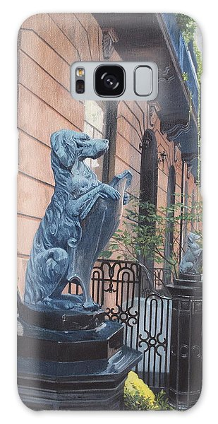 The Dogs On West Tenth Street, New York, Ny  Galaxy Case by Barbara Barber