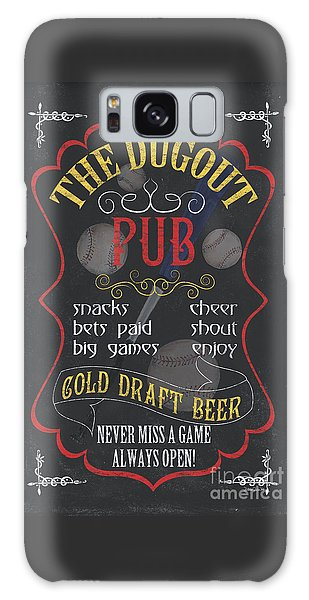 Baseball Bats Galaxy S8 Case - The Dugout Pub by Debbie DeWitt