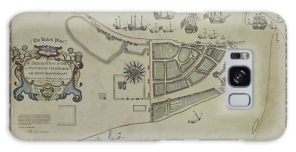 The Dukes Plan A Description Of The Town Of Mannados Or New Amsterdam 1664 Galaxy Case