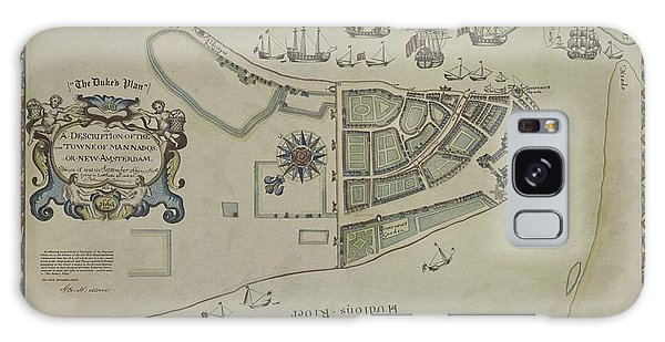 The Dukes Plan A Description Of The Town Of Mannados Or New Amsterdam 1664 Galaxy Case by Duncan Pearson