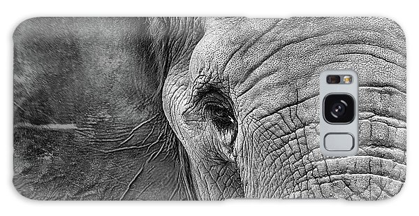 Galaxy Case featuring the photograph The Elephant In Black And White by JC Findley