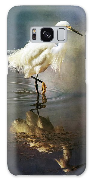 The Ethereal Egret Galaxy Case