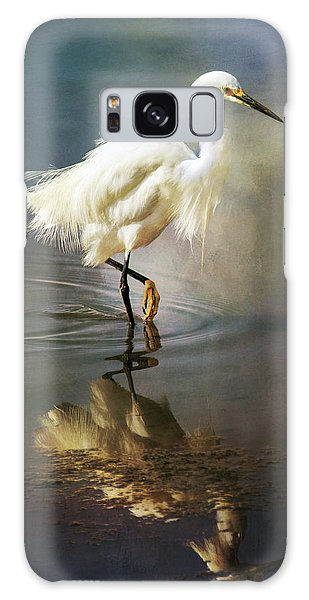 Galaxy Case featuring the digital art The Ethereal Egret by Nicole Wilde