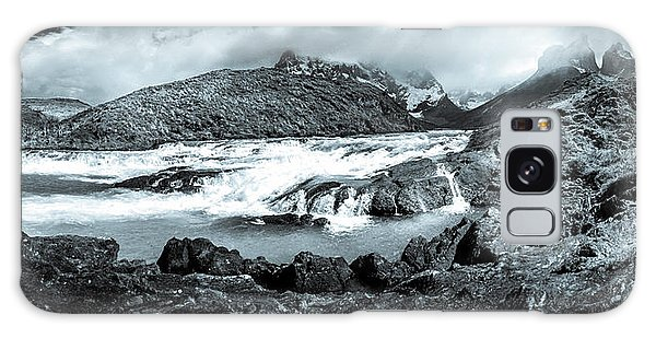 The Falls In Black And White Galaxy Case by Andrew Matwijec