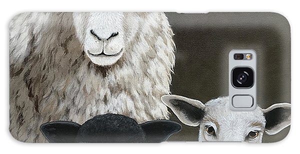 The Family - Sheep Oil Painting Galaxy Case