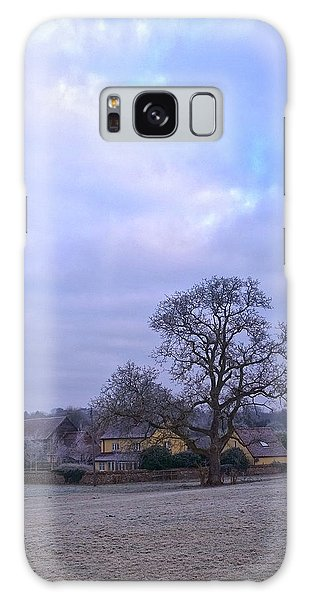 The Farm In Winter Galaxy Case