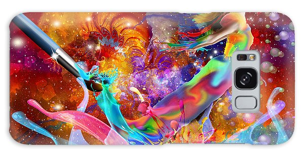 The Fathers Paint Brush Galaxy Case by Dolores Develde