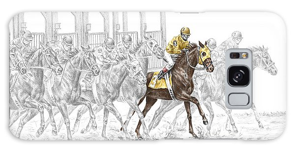 The Favorite - Thoroughbred Race Print Color Tinted Galaxy Case by Kelli Swan