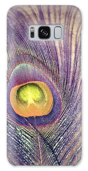 The Feather In Colour Galaxy Case