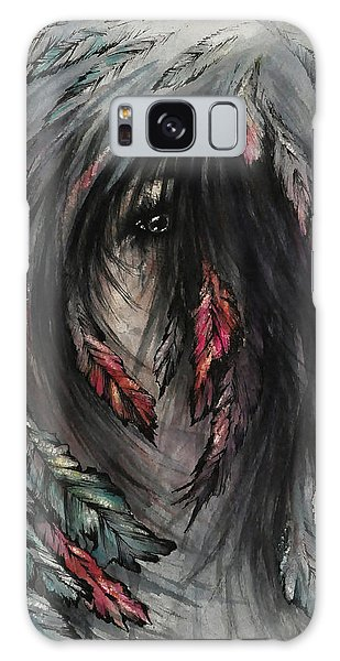 Galaxy Case - The Feathered Girl by Rachel Christine Nowicki