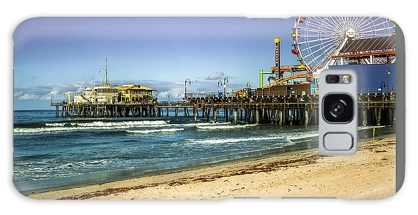 The Ferris Wheel - Santa Monica Pier Galaxy Case
