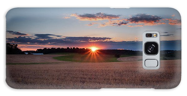 Galaxy Case featuring the photograph The Fields At Sunset by Mark Dodd