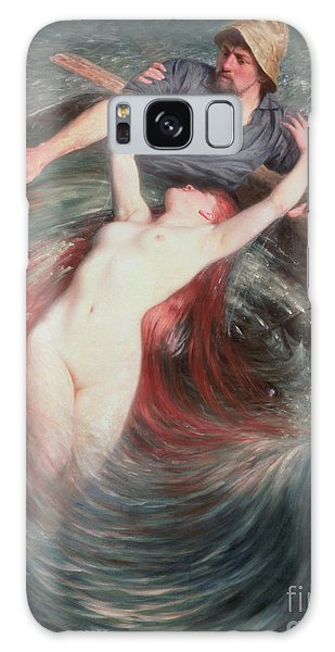 Extinct And Mythical Galaxy S8 Case - The Fisherman And The Siren by Knut Ekvall