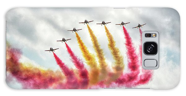 The Flag Of Spain At The Malta Airshow Galaxy Case by Stephan Grixti