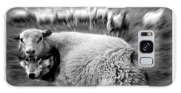 The Flock Is Safe Grayscale Galaxy Case by Marian Voicu