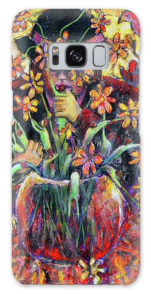 The Flower Arranger Galaxy Case