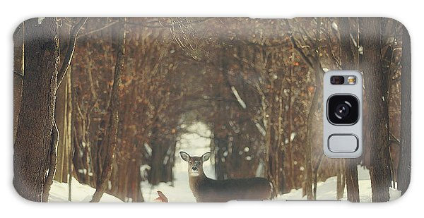 Deer Galaxy S8 Case - The Forest Of Snow White by Carrie Ann Grippo-Pike